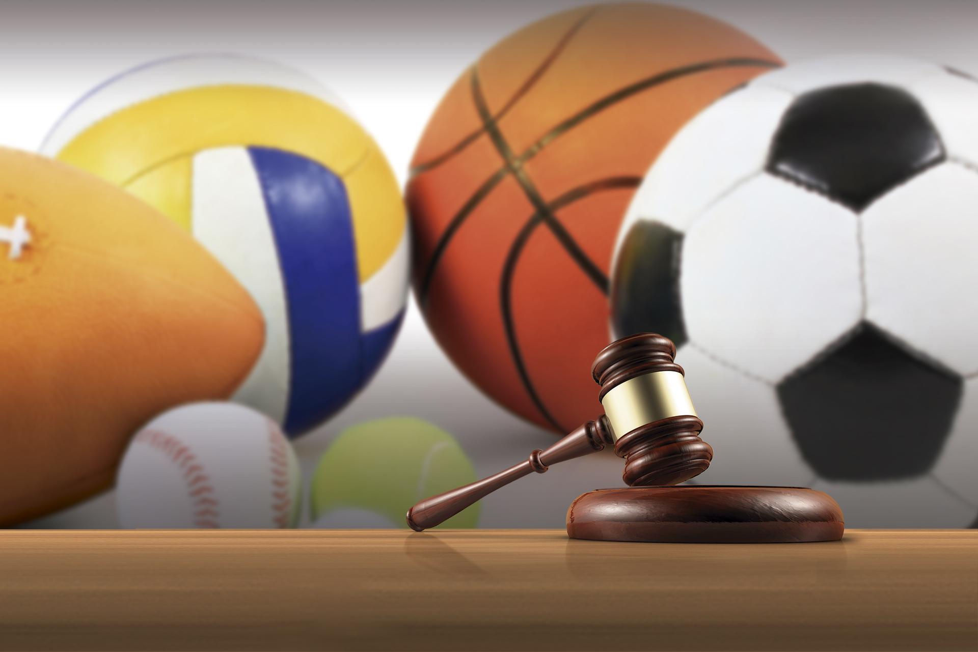 maza de juez y material deportivo; derecho deportivo