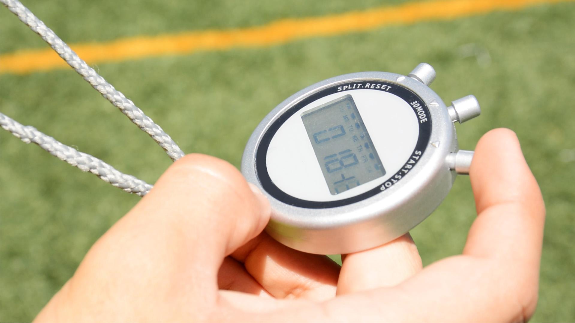 cronometro deportivo en entrenamiento